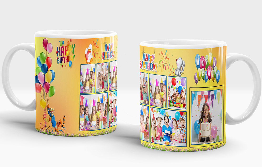 Happy Birthday 3 Mug Design