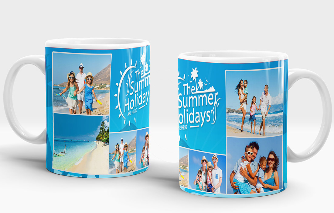 The Summer Holidays Are There Mug Design