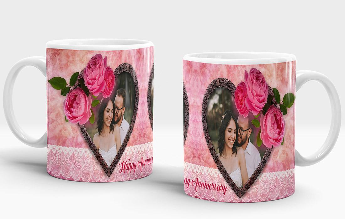 Happy Anniversary Mug Design