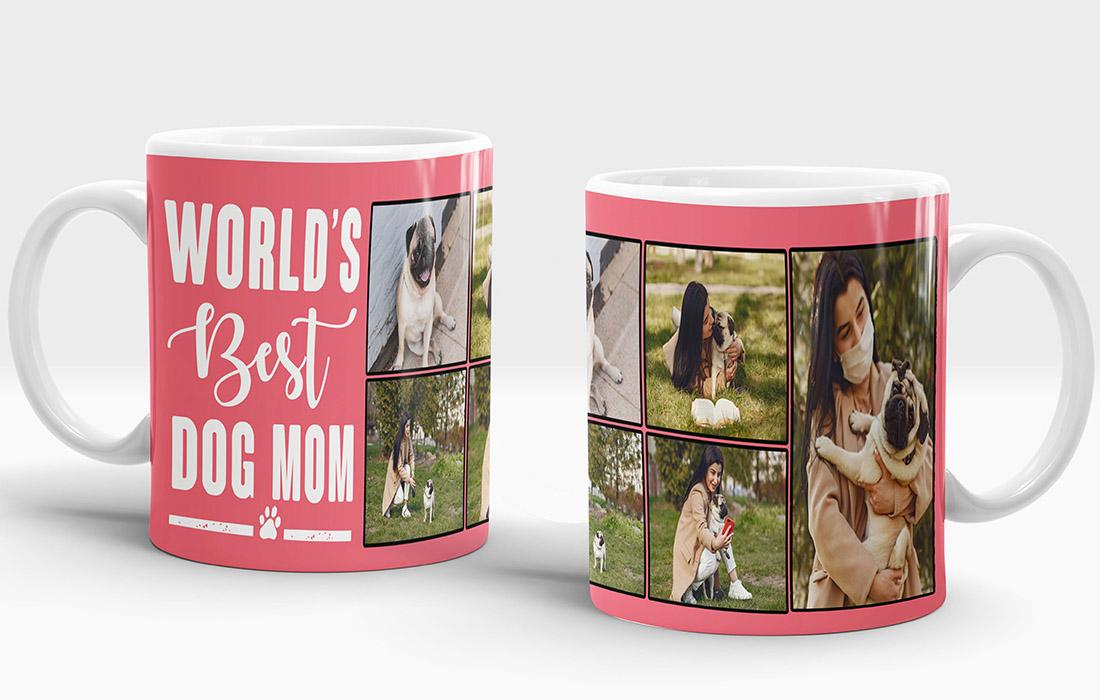 World's Best Dog Mom Mug Design