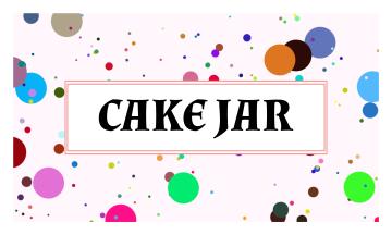 Cake Jar Business Card (3.5x2)
