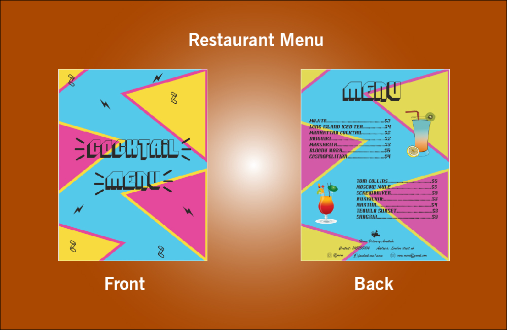 Restaurant Cocktail Menu - S13 (8.5x11)