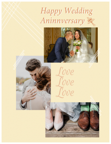 Happy Wedding Anniversary Photo Collage (8.5x11)