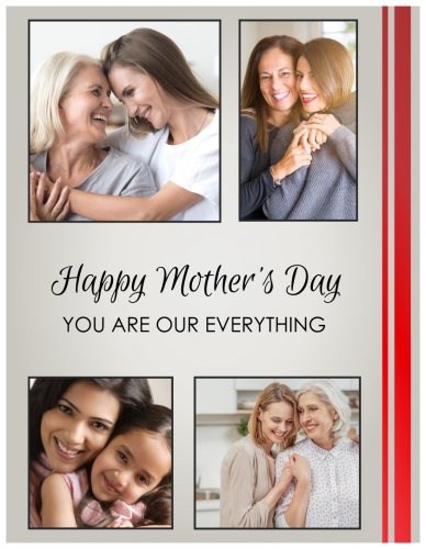 Happy Mother's Day You Are Our Everything Photo Collage (8.5x11)
