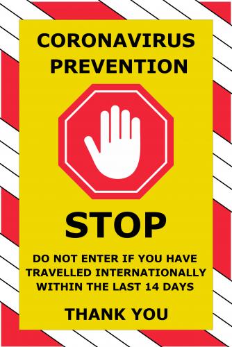 Corona Virus Sign (24x36)