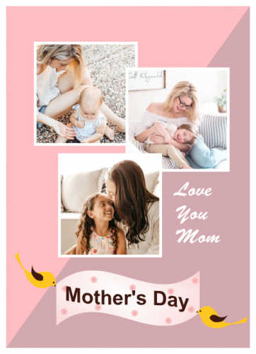 Mother's Day Love You Mom Photo Collage (5x7)