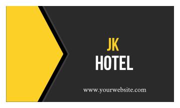 Jk Hotel Business Card (3.5x2)