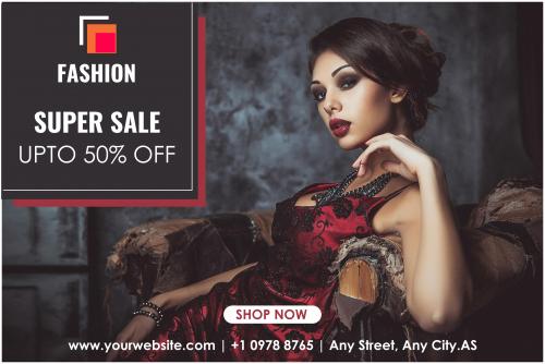 Fashion Factory Sale Banner 36x24