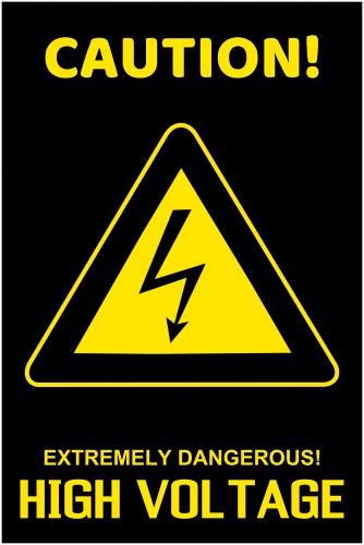 High Voltage Caution Sign (24x36)