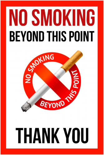 No Smoking Sign (24x36)