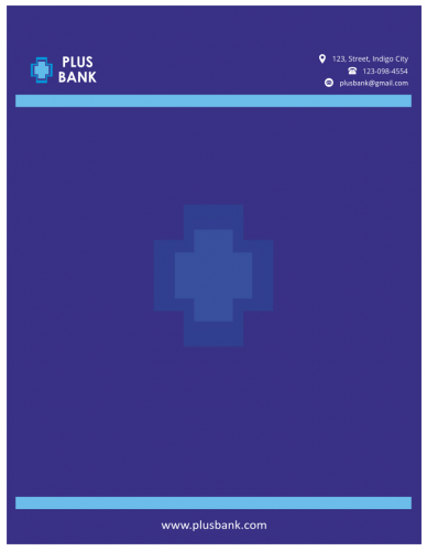 Plus Bank Letterhead (8.5x11)