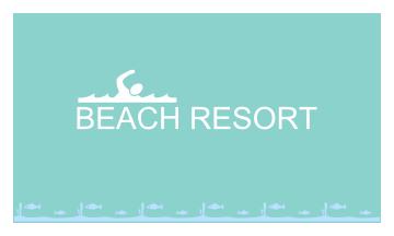 Beach Resort Business Card (3.5x2)
